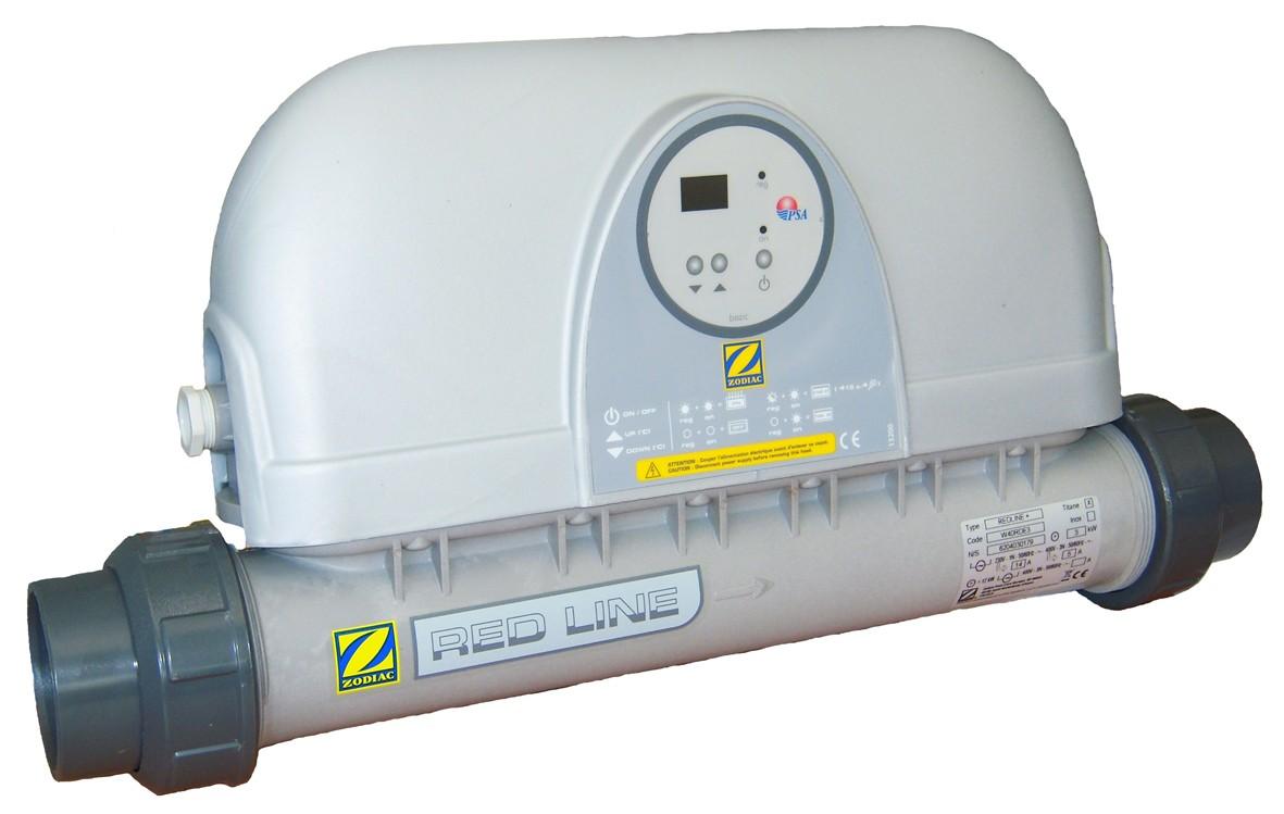 Calentador eléctrico en línea.